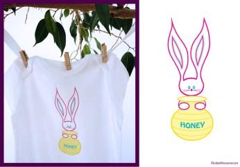 "Elizabeth Lorayne kids wear: ""Honey Bunny"" original design"