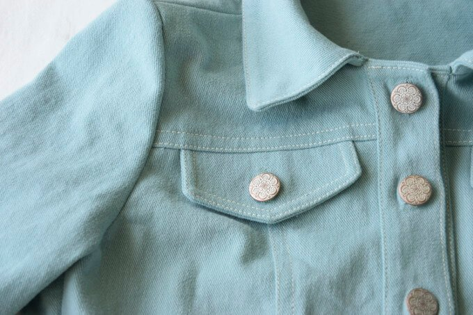 sea glass denim jacket