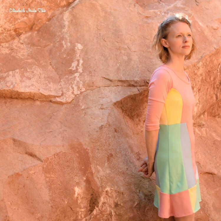 Winter Street geometric dress