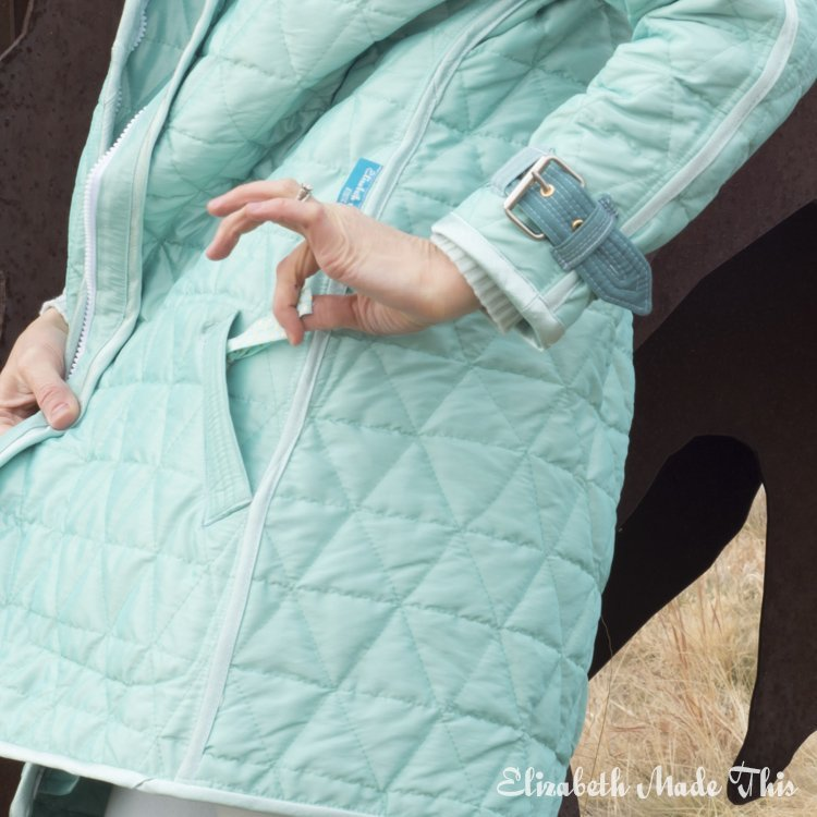 diy quilted coat