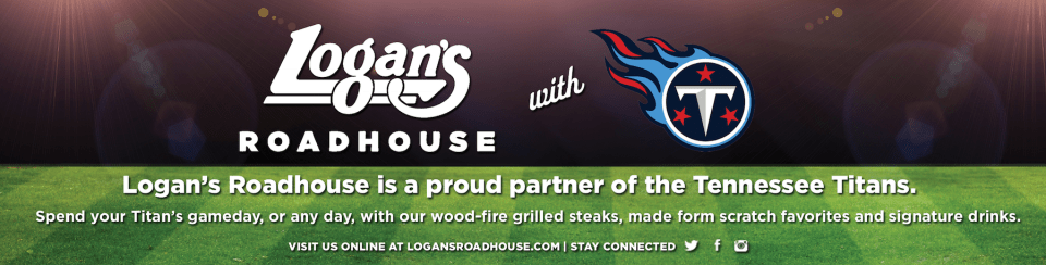 Logan's Roadhouse Tennessee Titans Graphic Design