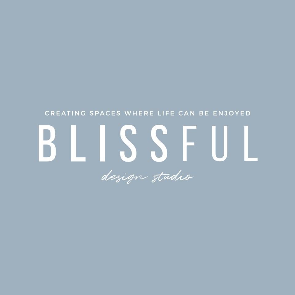 Blissful Design Studio Logo by Speak Social - minimal, modern, chic interior design logo