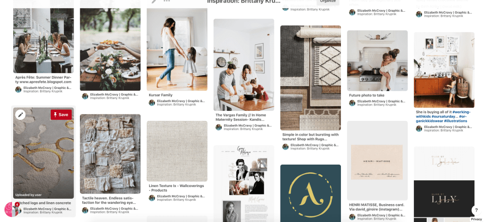 Client Pinterest Board Example
