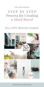 Mood Board template for brand designers, how to use a mood board to up level your branding process