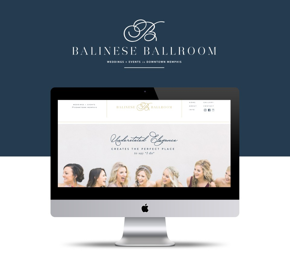 Urban, sophisticated, contemporary wedding venue branding and website on Showit!