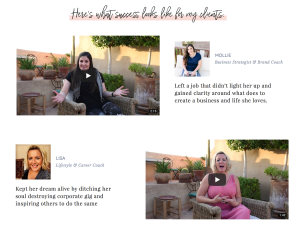 Example of one option for displaying testimonials on your website with a video testimonial page