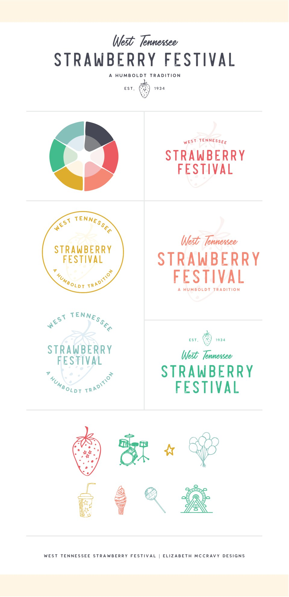 Brand Style Guide for West TN Strawberry Festival