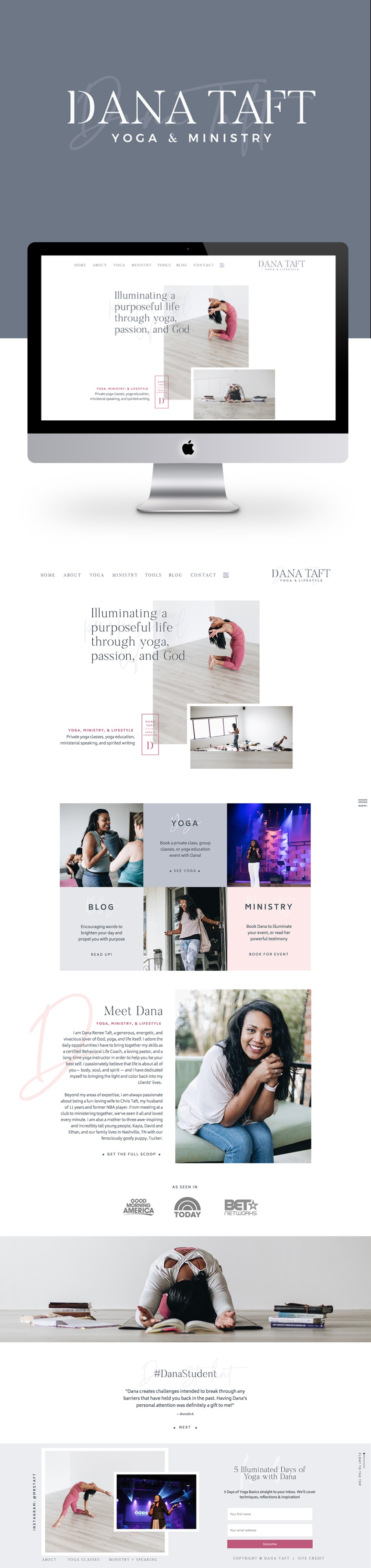 Dana Taft - Branding and Website Design by Elizabeth McCravy - Yoga Teacher Branding4