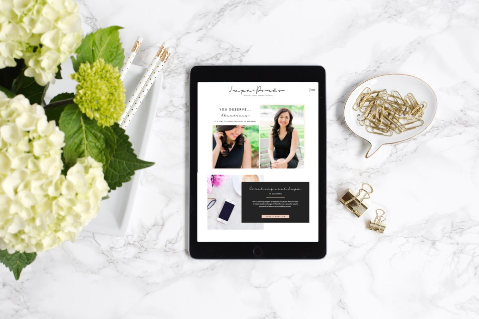 Elegant website for life coaches - Showit website template for career coaches, Lupe Prado's website customization from Reese template