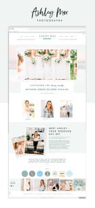 Website design for wedding photographer on Showit5