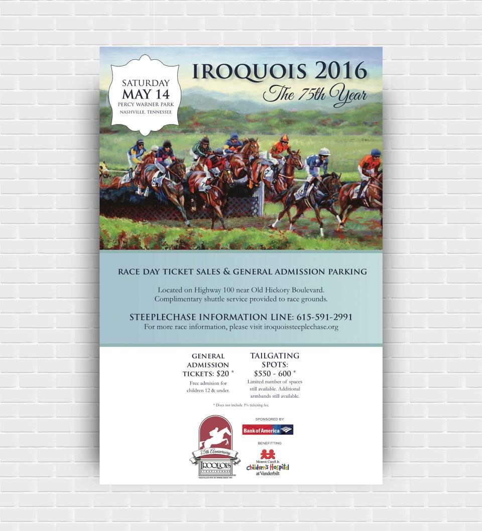 Iroquois Steeplechase Poster - By Elizabeth McCravy