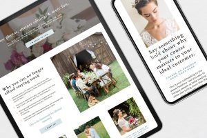 Stunning sales page template for Showit, for photographers to sell courses