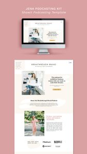 Jena Showit Podcast Template - This bubbly, feminine, and bold website template is the perfect spot to house your podcast!