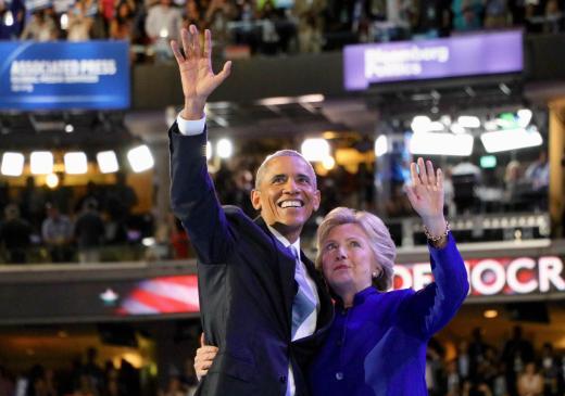 foto del Presidente Barack Obama y Hillary Clinton