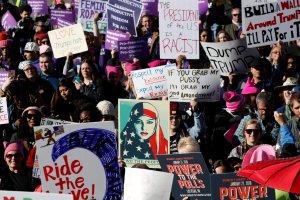 foto de mujeres en protesta