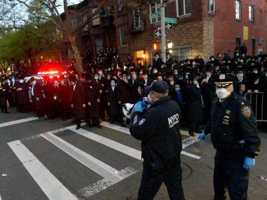 foto Violencia en New York entre judíos ortodoxos y la policía