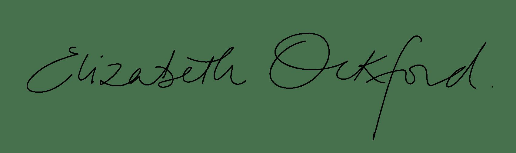 Elizabeth Ockford Signature
