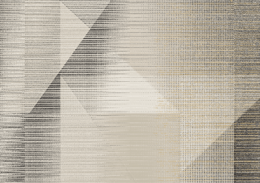 Butia geometric wallpaper, Black/White, W-01092