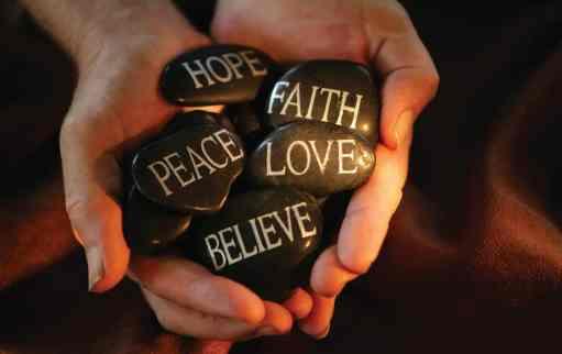 Peace Hope Faith Believe