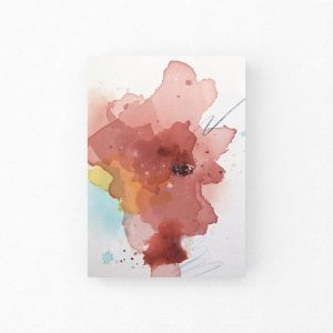 Original abstract painting mockup
