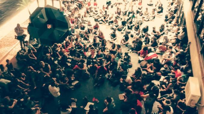 Assembleias, aulas publicas, rodas de conversa Ocupa UnB