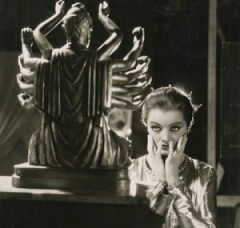 "Scary psychic Myrna Loy as Ursula in ""Thirteen Women""."
