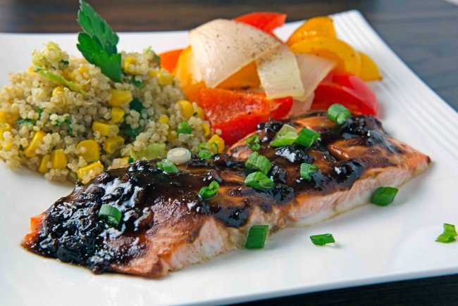 Heart Healthy Balsamic Glazed Salmon