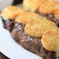 Parmesan Crusted New York Strip Steak