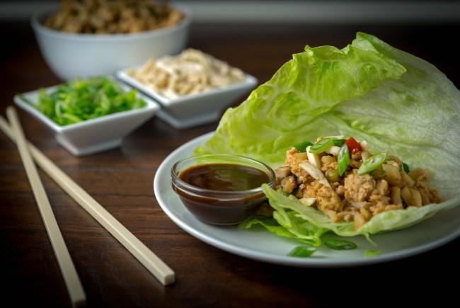 Light Chicken Lettuce Wraps