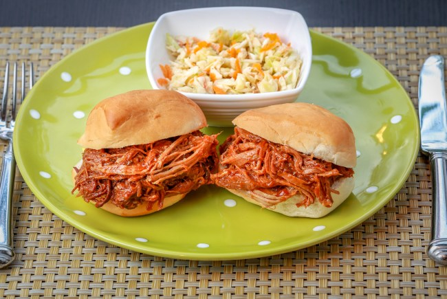 Slow-Cooker Pulled Pork and Cole Slaw
