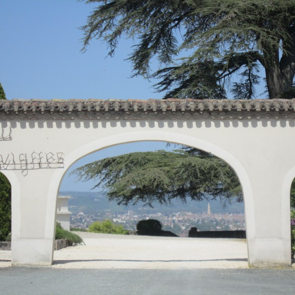 Chateau Ladesvignes and the view beyond