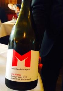 South Okanagan Meyer Family Chardonnay in London