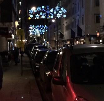 Christmas lights in Mayfair