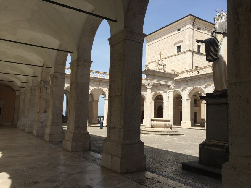 Inside the Abbey of Montecassino
