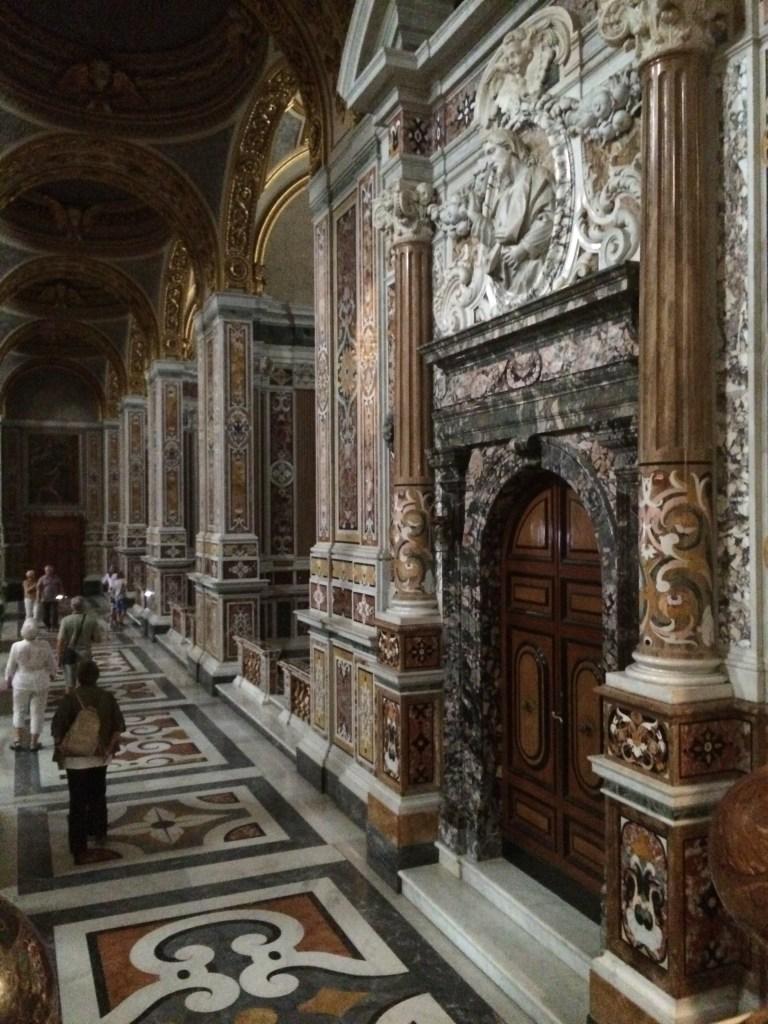 Inside the rebuilt Abbey of Montecassino