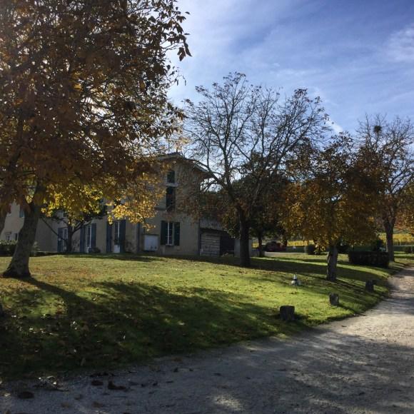 Arriving at Château Les Mûts