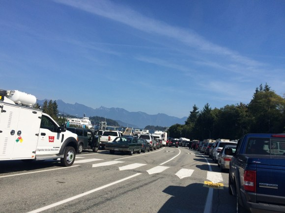 Ferry line up -Sunshine Coast to mainland Vancouver