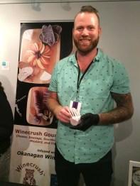 Tyson Still, co-founder of Award winning Okanagsn food company, Winecrush.