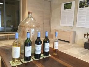 The range of wines at Chateau Monestier La Tour