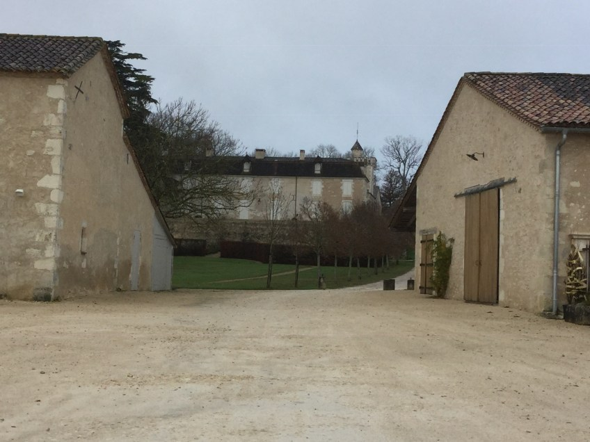 Chateau Monestier - the house beyond the winery