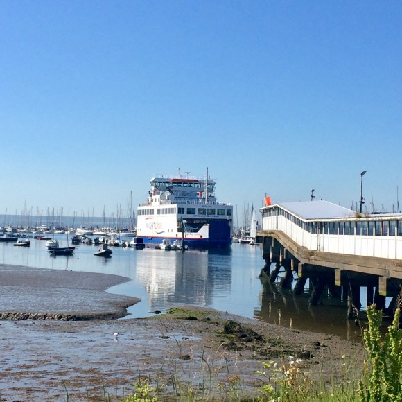 Ferry arriving at Lymington from Yarmouth