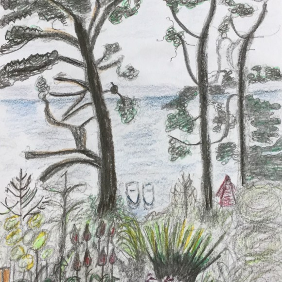 Sketch of Totland Bay