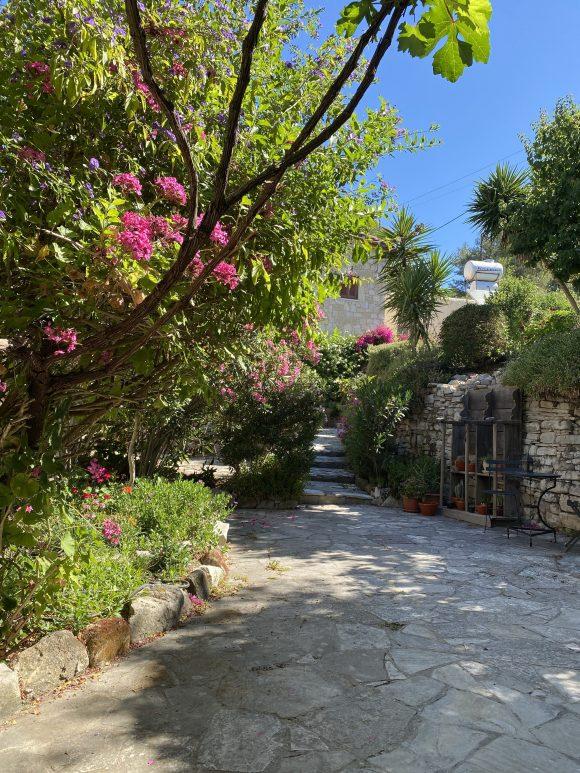 The gardens at Oleander and Lantana Stone Houses, Lemona
