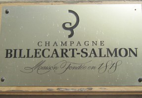 Door Sign at Champagne Billecart-Salmon