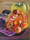 My painting of fruits from the Paphos market