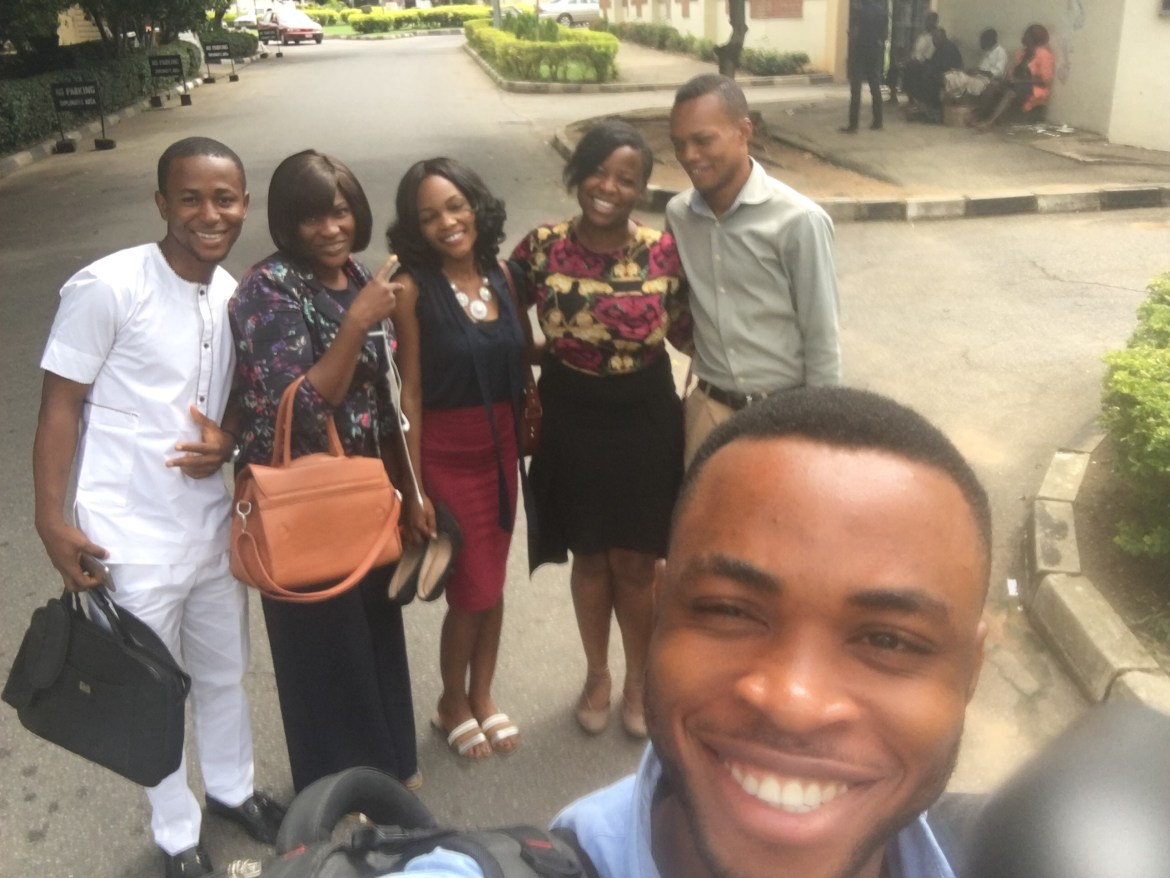 Happy people (L-R): Wale, Chinyere, Damie Faniyi, ETP, Nosa & Ubong right in front