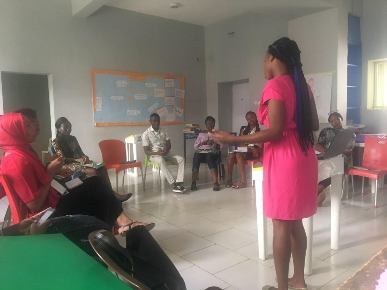 Kemi talking on GBV's effect on Mental health