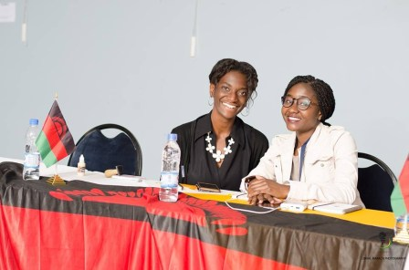 Malawian delegates Smiling during plenary sessions