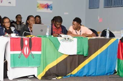 Delegates hard at work during plenary sessions