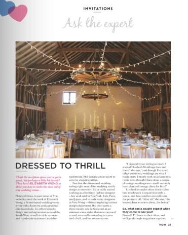 vow-issue-9- Elizabeth Weddings